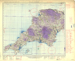 Ordnance Survey of England and Wales, Civil Air edition (Sheet 10), England, South West
